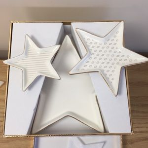 Other - Set of 3 Ceramic Star Shaped trays